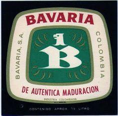 1980  Etiquetas de Cervezas Colombianas: BAVARIA