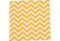 Yellow & White Zigzag Pillow Sham