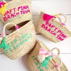 Rose in April pom pom embroidered baskets