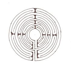 Labyrinth - glue string or twine to the path, trace with finger as an aid in meditation