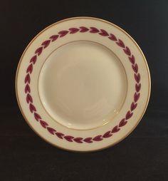 Vintage Theodore Haviland Limoges Daphne Bread Butter Plate Magenta Gold France #TheodoreHaviland