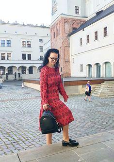 Sukienka z marszczeniem w pasie uszyta z Burda 08/2019 model 101 Burda Patterns, Zara, Dresses With Sleeves, Boho, Long Sleeve, Model, Fashion, Moda, Sleeve Dresses