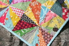 looks like a simple quilt to make. would be cute made out of old tshirts from memorable experiences with the kids (ex: vbs, sports team) @Michelle DuPuis