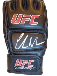 Chris Weidman Autographed Ultimate Fighting Championship Glove, Proof Photo