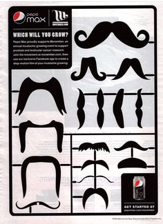 pepsi maxprint mustaches