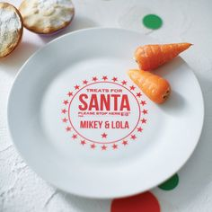 personalised santa star treat plate by pearl and earl | notonthehighstreet.com