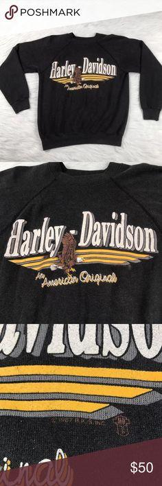Vintage Harley Davidson 1987 Crewneck Sweatshirt Men's size medium 38-40 vintage 1987 Harley Davidson crewneck sweatshirt. Light fading in color Harley-Davidson Sweaters Crewneck