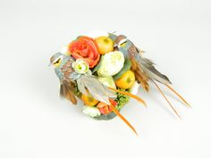 Fascinator Headpiece Cocktail Hat Feathered Birds by ElleSantos