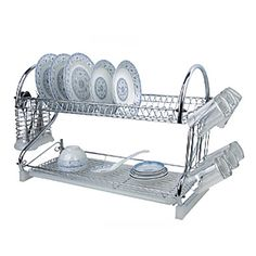 "1 Kitchen Kitchen Stainless Steel / Plastic Rack & Holder W59cm x L24cm x H40cm(W23.6"" x L9.6"" x H16"") 1196802 2017 – $49.99"