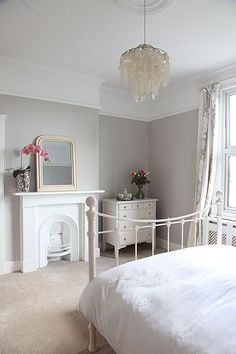 Lowcost ways to add period features back into your home is part of Victorian bedroom - Put these period features back in to your home to add value without spending a fortune! Victorian Decor, Victorian Homes, Victorian Terrace Interior, Bedroom Styles, Bedroom Colors, Bedroom Green, Soft Grey Bedroom, Grey Bedroom Paint, Style At Home