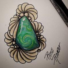 Because i  gems!! #vitruvianart #gemobsessed #gemaddict #gemstones #gem #tangleart #tanglegems #zengemart #zengems #queenmothergemho