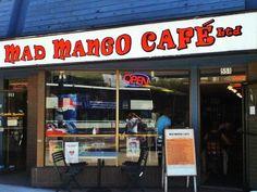 Mad Mango Café in Kelowna, BC Wednesday Specials, Laksa, Four Square, Vegetarian Recipes, Mango, Canada, Dining, Places, Manga