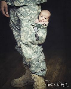 LOVE THIS IDEA! <3 We are TOTALLY doing this with the Navy Working Uniform (NWU) when we have a baby!