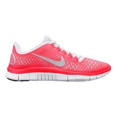 Women's Nike Free 3.0 v4 Running Shoe - Pink/Grey 8