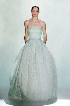 Rosa Clara 2013: vestido de novia en verde menta