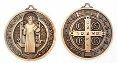 medalla de san benito frontal y reverso