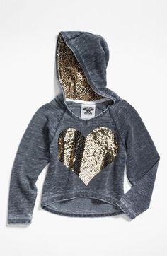 Signorelli Sequin Heart Hoodie (Big Girls) | Nordstrom