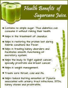 Benefits of sugar cane juicd