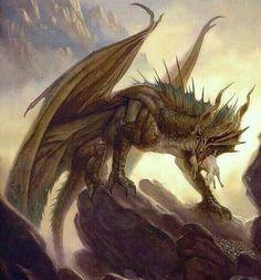 Fantasy Dragon, Fantasy Warrior, Dragon Art, Dnd Dragons, D&d Dungeons And Dragons, Small Dragon Tattoos, Legendary Dragons, Dragon Tales, Bronze Dragon