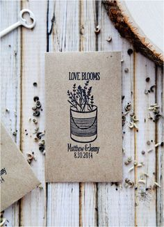 Lovable Wedding Favors - Seeds your guests can plant when they get home.