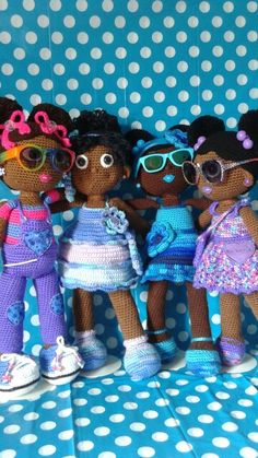 Crochet Dolls, African American girls!
