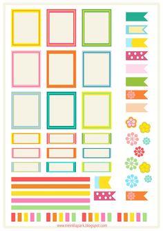 Free printable bright planner stickers - ausdruckbare Etiketten - freebie | MeinLilaPark – DIY printables and downloads