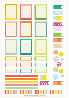 Free printable bright planner stickers - ausdruckbare Etiketten - freebie | MeinLilaPark – DIY printables and downloads