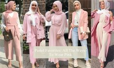 Pastel Favorites: All The Ways To Wear Pink - Hijab Fashion Inspiration Hijab Fashion Inspiration, Style Inspiration, Bridesmaid Dresses, Wedding Dresses, All The Way, Modest Fashion, Pastel, Feminine, Coat