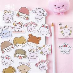 Sweeten up your diary or planner with these adorable Kawaii Piglet Paper Stickers. Add them to your bullet journal spreads, scrapbooks, notebooks or any other creative projects. Kawaii Pens, Kawaii Stickers, Cute Stickers, Journal Stickers, Scrapbook Stickers, Planner Stickers, Kawaii Planner, Diy Back To School, Kawaii Stationery