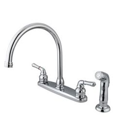 Dual Handle Chrome Kitchen Faucet - Overstock™ Shopping - Great Deals on Kitchen Faucets
