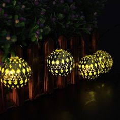 Moroccan Silver metal Globe Outdoor String Lights for Christmas Wedding Party Garden Lawn Patio Decoration LED Warm White) Globe String Lights, Solar String Lights, Christmas String Lights, String Lights Outdoor, Christmas Fairy, Christmas Wedding, Xmas Tree Decorations, Outdoor Decorations, Metal Lanterns