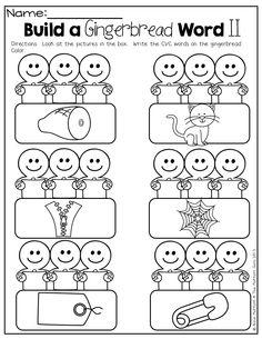 ... gingerbread kids gingerbread worksheets gingerbread cvc words