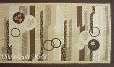 Ulla's Quilt World: Quilted cover, Jelly Rolls