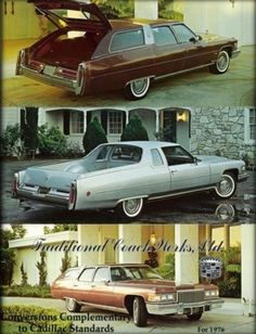 1976 Cadillac Mirage Sports Wagon and Castilian Fleetwood Estate Wagon by Traditional Coach Works Ltd.