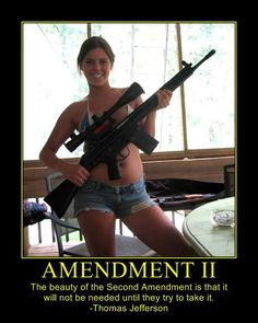"""The beauty of the Second Amendment is that it will not be needed, until they try to take it"".        --Thomas Jefferson"