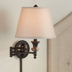 Robert Louis Tiffany Victorian Art Glass Swing Arm Wall Lamp - #8G541 | Lamps Plus
