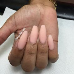 Matte Light Pink Squoval Acrylic Nails