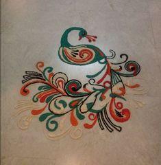 Easy Peacock Rangoli Designs for Diwali