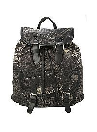 HOTTOPIC.COM - Harry Potter Solemnly Swear Slouch Backpack