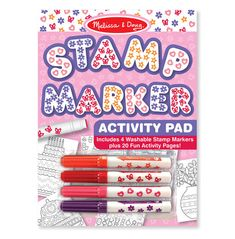 Stamp Markers and Activity Pad - Butterflies, Hearts, Flowers, and Stars