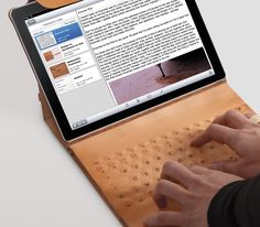 "This is INNOVATIVE rad tech & design, I want 1 NOW!!!!  ""INKO Tattooed Leather Keyboard iPad Case"" by; Alexandre Echasseriau"