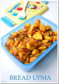 Bread upma recipe - Easy breakfast or snack or even lunch box idea for your kids!