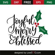 Items similar to Joyful Merry & Blessed Vinyl Decal Sticker on Etsy Christmas Vinyl, Christmas Quotes, Christmas Pictures, Christmas Projects, Christmas Cards, Christmas Ideas, Christmas Inspiration, Christmas Phrases, Christmas Decorations