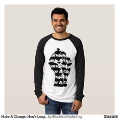 Make A Change Men's Long Sleeve Shirt - Heavyweight Pre-Shrunk Shirts By Talented Fashion & Graphic Designers - #sweatshirts #shirts #mensfashion #apparel #shopping #bargain #sale #outfit #stylish #cool #graphicdesign #trendy #fashion #design #fashiondesign #designer #fashiondesigner #style