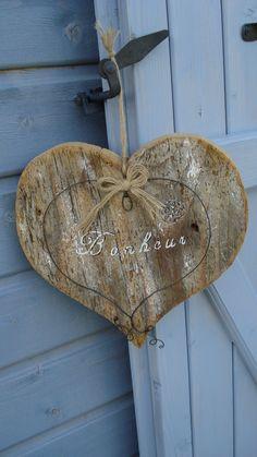 Coeur en bois.