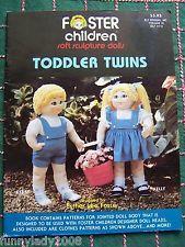 1985 Soft Sculpture Dolls Toddler Twins Foster Children