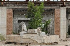 Abandoned Palace of Mobutu Sese Seko of Zaire. Now Democratic Republic of the Congo at the village of Kawele.