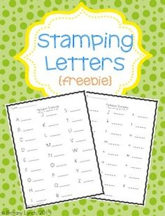 Stamping Letters {FREEBIE}