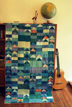 One Seam Flying Geese Quilt from Berlin Quilter.
