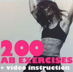 200 ab exercises with video instructions.